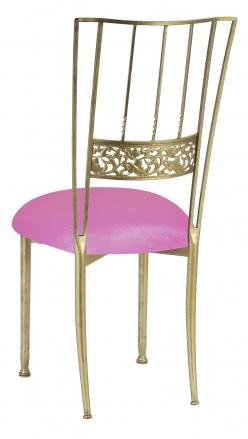 Gold Bella Fleur with Pink Glitter Knit Cushion (1)