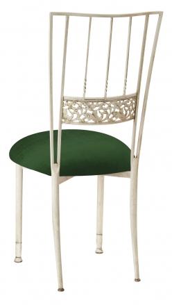 Ivory Bella Fleur with Green Velvet Cushion (1)
