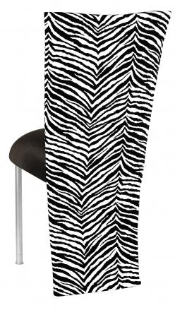 Black and White Zebra Jacket with Black Velvet Cushion on Silver Legs (1)