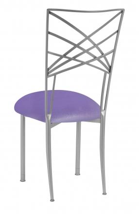 Silver Fanfare with Lavender Velvet Cushion (1)