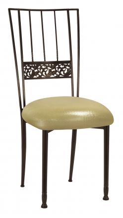 Mahogany Bella Fleur with Metallic Gold Stretch Knit Cushion (2)