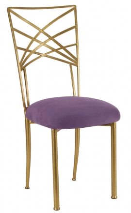 Gold Fanfare with Lilac Suede Cushion (2)