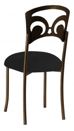 Bronze Fleur de Lis with Black Suede Cushion (1)