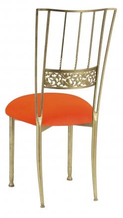 Gold Bella Fleur with Orange Velvet Cushion (1)