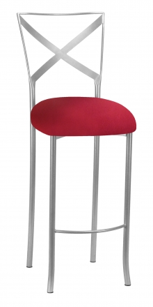 Simply X Barstool with Cranberry Stretch Knit Cushion (2)