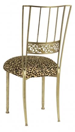 Gold Bella Fleur with Leopard Boxed Cushion (1)