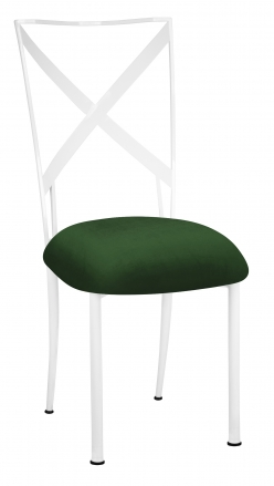 Simply X White with Green Velvet Cushion (2)