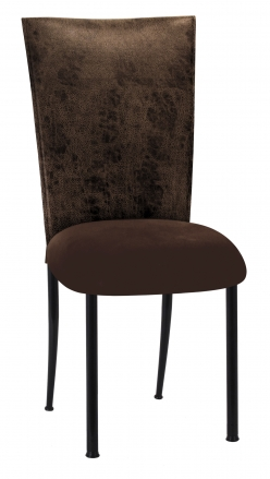 Durango Chocolate Leatherette with Chocolate Suede Cushion on Black Legs (2)