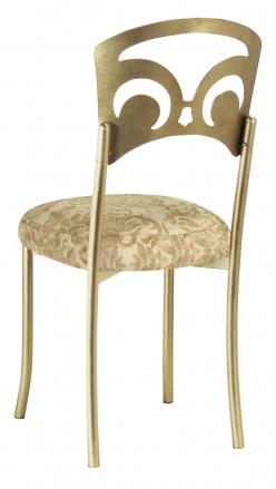 Gold Fleur de Lis with Ravena Boxed Chenille Cushion (1)