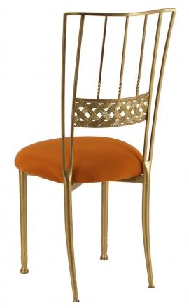 Gold Bella Braid with Copper Stretch Knit Cushion (1)