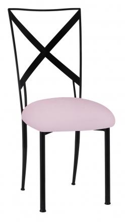 Blak. with Soft Pink Velvet Cushion (2)