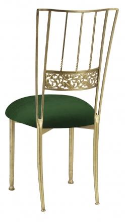 Gold Bella Fleur with Green Velvet Cushion (1)