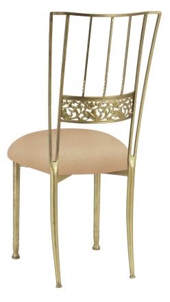 Gold Bella Fleur with Beige Stretch Knit Cushion (1)