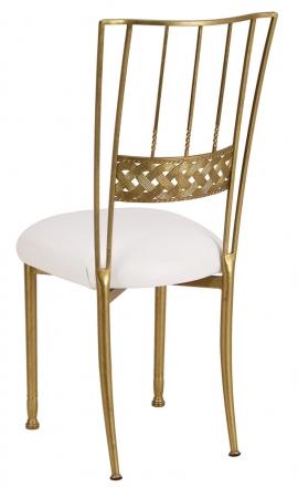 Gold Bella Braid with White Stretch Knit Cushion (1)
