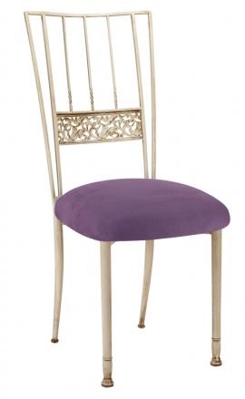 Ivory Bella Fleur with Lilac Suede Cushion (2)