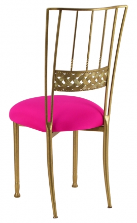 Gold Bella Braid with Hot Pink Stretch Knit Cushion (1)