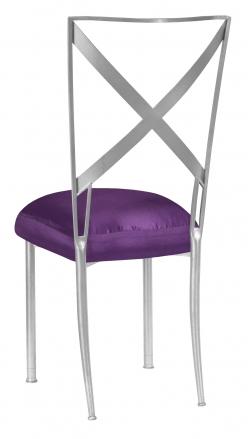 Silver Simply X with Purple Taffeta Boxed Cushion (1)