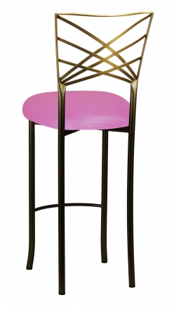 Two Tone Fanfare Barstool with Pink Glitter Knit Cushion (1)