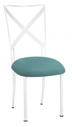 Simply X White with Turquoise Suede Cushion (2)