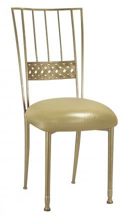 Gold Bella Braid with Metallic Gold Stretch Knit Cushion (2)
