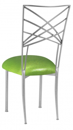 Silver Fanfare with Metallic Lime Cushion (1)