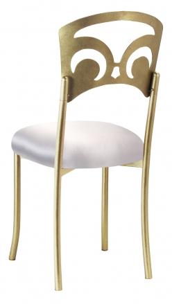 Gold Fleur de Lis with Platinum Satin Cushion (1)