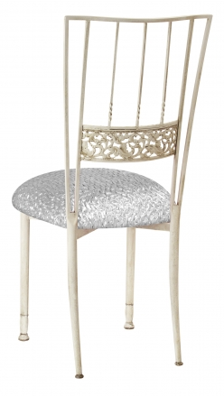 Ivory Bella Fleur with Atomic Silver Stretch Knit Cushion (1)