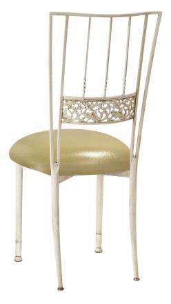 Ivory Bella Fleur with Metallic Gold Stretch Knit Cushion (1)