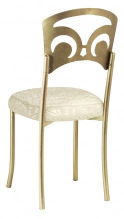 Gold Fleur de Lis with Victoriana Boxed Cushion (1)