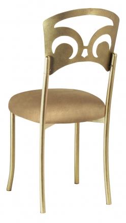 Gold Fleur de Lis with Camel Suede Cushion (1)