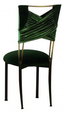 Green Velvet Sweetheart with Green Velvet Cushion on Brown Legs (1)