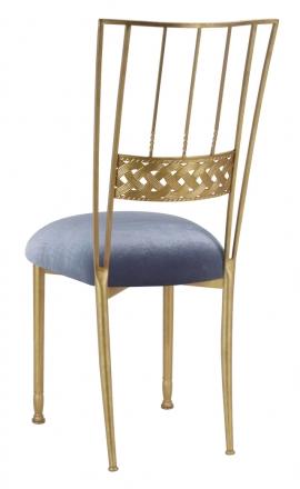 Gold Bella Braid with Steel Velvet Cushion (1)