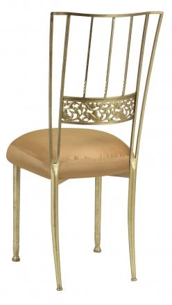 Gold Bella Fleur with Gold Taffeta Boxed Cushion (1)