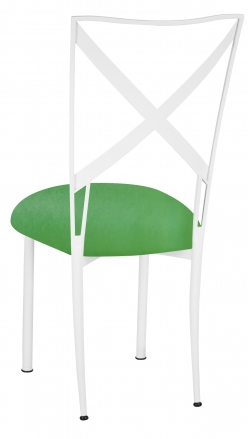 Simply X White with Kelly Green Stretch Knit Cushion (1)