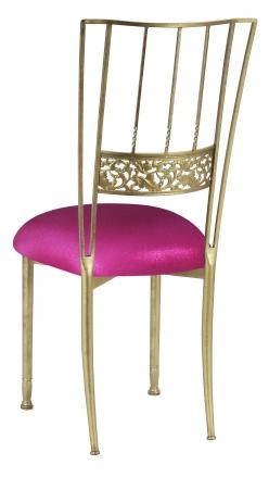 Gold Bella Fleur with Metallic Fuchsia Knit Cushion (1)