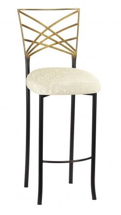 Two Tone Fanfare Barstool with Victoriana Boxed Cushion (2)