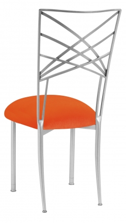 Silver Fanfare with Orange Velvet Cushion (1)