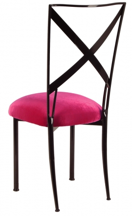 Blak. with Fuchsia Velvet Cushion (1)