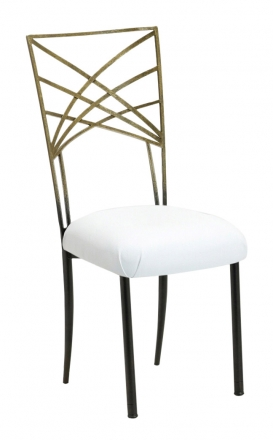 Two Tone Gold Fanfare with White Suede Cushion (2)