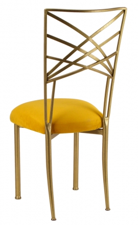 Gold Fanfare with Canary Suede Cushion (1)