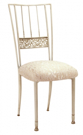 Ivory Bella Fleur with Ivory Lace Cushion (2)