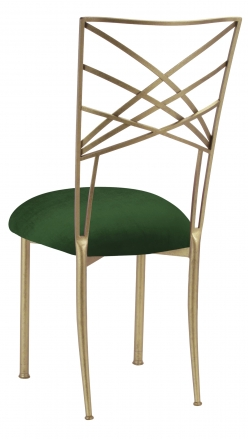 Gold Fanfare with Green Velvet Cushion (1)