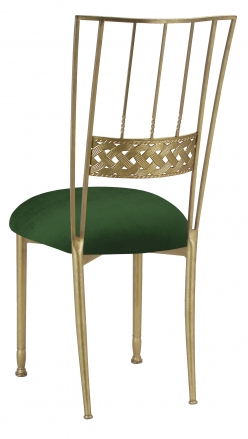 Gold Bella Braid with Green Velvet Cushion (1)