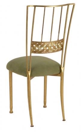 Gold Bella Braid with Sage Suede Cushion (1)