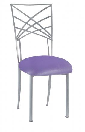 Silver Fanfare with Lavender Velvet Cushion (2)