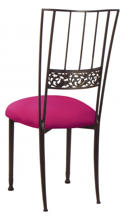 Mahogany Bella Fleur with Fuchsia Stretch Knit Cushion (1)