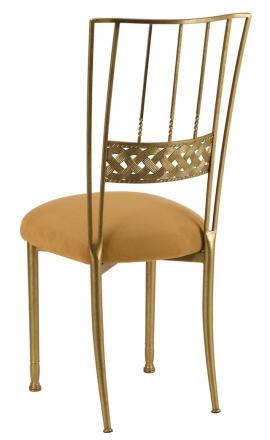 Gold Bella Braid with Camel Suede Cushion (1)