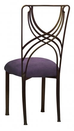 Bronze La Corde with Lilac Suede Cushion (1)