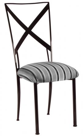 Blak. with Charcoal Stripe Cushion (2)