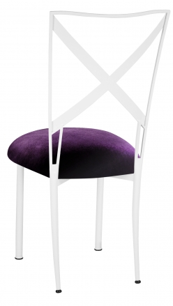 Simply X White with Deep Purple Velvet Cushion (1)